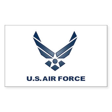 USAF Symbol Sticker (Rectangle)