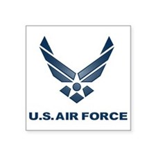 "USAF Symbol Square Sticker 3"" x 3"""