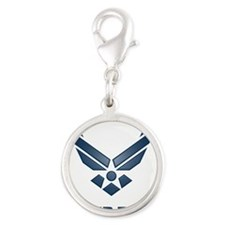 USAF Symbol Silver Round Charm