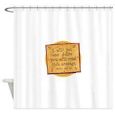 Gambling shower curtain