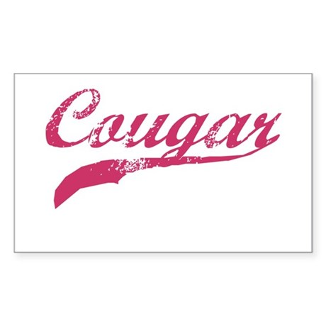COUGAR SHIRT MILF MATURE SEXY Sticker (Rectangular