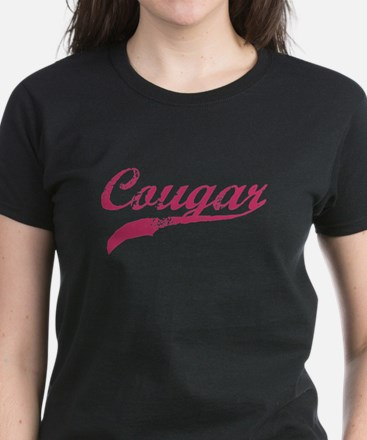 COUGAR SHIRT MILF MATURE SEXY Women's Dark T-Shirt