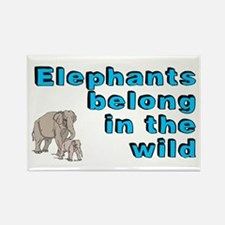 Elephants belong in the wild - Rectangle Magnet