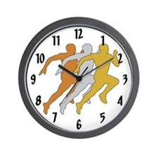 Track Runners Wall Clock