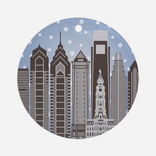 Philly Snowflakes Ornament (round)