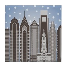 Philly Snowflakes Tile Coaster