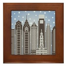 Philly Snowflakes Framed Tile