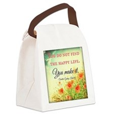 Make Life Happy Canvas Lunch Bag