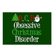 Christmas Green Postcards (Package of 8)