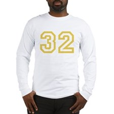 GOLD #32 Long Sleeve T-Shirt