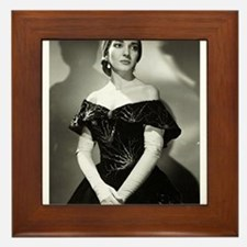 maria callas Framed Tile