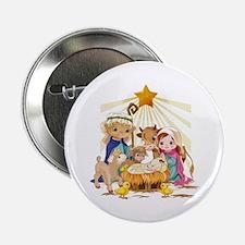 "Nativity- 2.25"" Button"