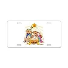Nativity- Aluminum License Plate