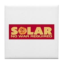 Solar - No War Required Tile Coaster