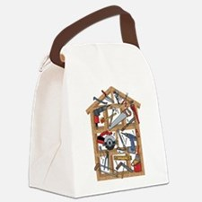 Home Construction Canvas Lunch Bag