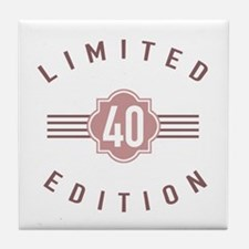 40th Birthday Limited Edition Tile Coaster