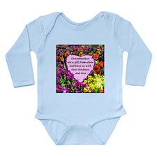 BLESSED GRANDMA Long Sleeve Infant Bodysuit