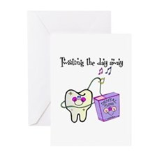 Twistin the Day Away Greeting Cards (Pk of 10)