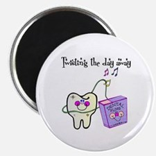 """Twistin the Day Away 2.25"""" Magnet (10 pack)"""