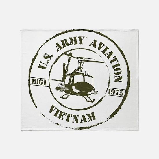 Army Aviation Vietnam Throw Blanket