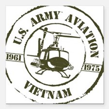 "Army Aviation Vietnam Square Car Magnet 3"" x 3"""