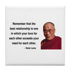 Dalai Lama 4 Tile Coaster