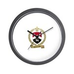 ARSENEAULT Family Crest Wall Clock