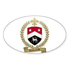ARSENEAULT Family Crest Oval Decal