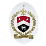 ARSENEAULT Family Crest Oval Ornament