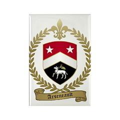 ARSENEAULT Family Crest Rectangle Magnet (100 pack