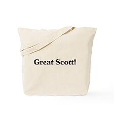 Great Scott (black) Tote Bag