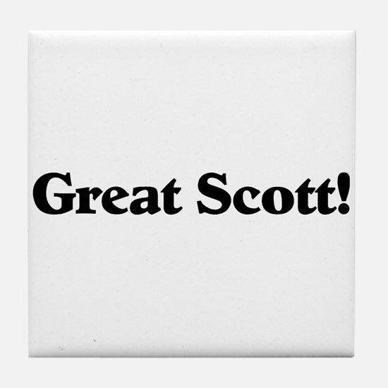 Great Scott (black) Tile Coaster