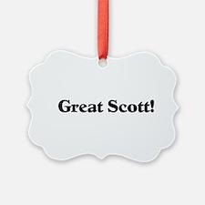 Great Scott (black) Ornament