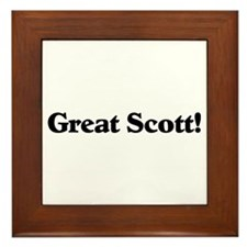 Great Scott (black) Framed Tile