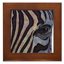 Sunset Zebra Framed Tile