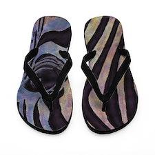 Sunset Zebra Flip Flops