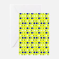 Blue Yellow Fellows Glitterbug Greeting Cards