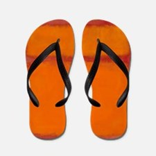 ROTHKO IN RED ORANGE Flip Flops