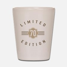 70th Birthday Limited Edition Shot Glass