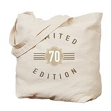 70th birthday Canvas Bags