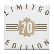 70th Birthday Limited Edition Tile Coaster