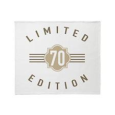 70th Birthday Limited Edition Throw Blanket
