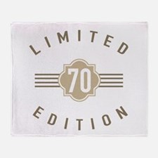 70th Birthday Limited Edition Throw Blanket
