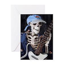 Skinney Skeleton Rocks On Greeting Cards