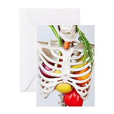 Skinny Eats Healthy Foods Greeting Cards