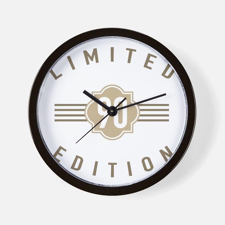 90th Birthday Limited Edition Wall Clock