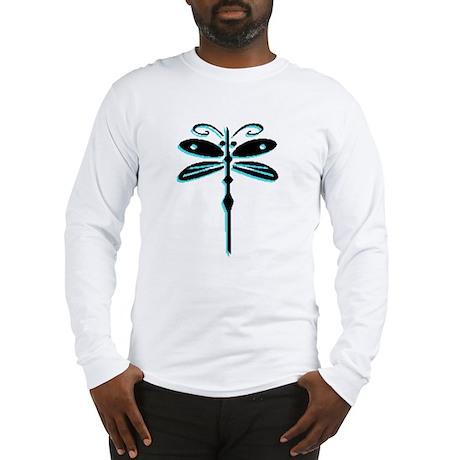 Teal Dragonfly Long Sleeve T-Shirt