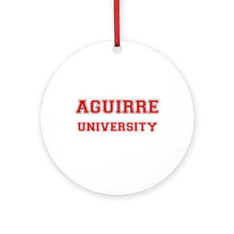 AGUIRRE UNIVERSITY Ornament (Round)