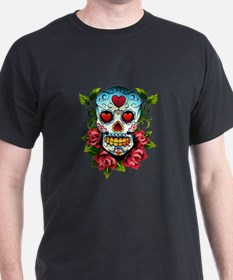 Unique Mexican sugar skulls T-Shirt