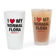 i-love-normal-flora-02.png Drinking Glass